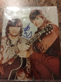Signed Everly Brothers photos