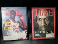 Michael Jordan Magazine Covers, Framed