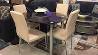 black glass-top 5-piece dinette set New York, 10027