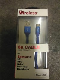 6 FT. blue USB cable box