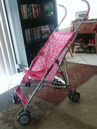 Pink toddler lightweight stroller