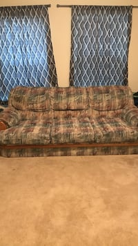 brown and green floral fabric sofa Hitchcock, 77563