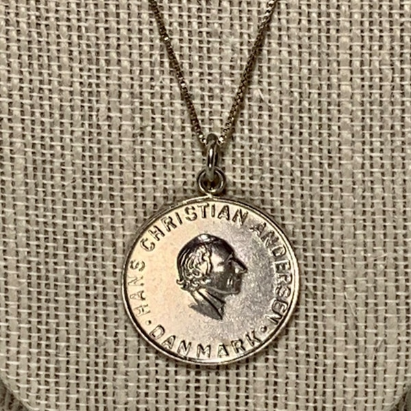 Sterling Silver Hans Christian Pendant Charm with Sterling Chain a05255e0-a568-4a01-bd41-3cb27b5580b6