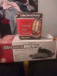 Oil filter and brake pads for 2001 s10
