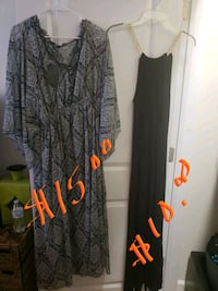gray and black floral scoop neck long sleeve dress Raleigh, 27604