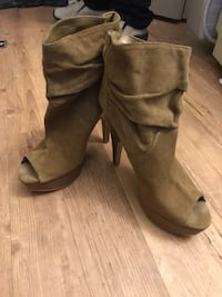 Peep toe light brown suede booties Vancouver, V5L 3A1