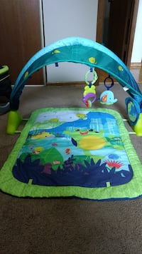 baby's blue and green activity gym Winnipeg, R2V 3Y9