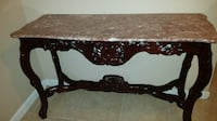 rectangular brown wooden table with mirror ALEXANDRIA