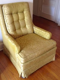 Jacquard Brocade Yellow Chair CHICAGO