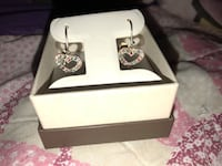 Silver-colored diamond stud earrings never been worn before  Nicholasville, 40356