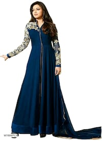 women's blue and brown floral dress Ludhiana, 141001