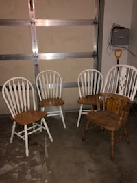 two brown wooden windsor chairs Westbury, 11590