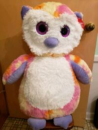 "Plush owl 27"" high"