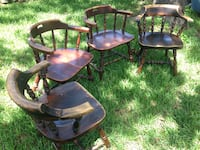 Solid wood vintage chairs -- set of four Houston, 77025