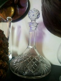 Crystal Decanter, Heavy weight crystal globe stopr Concord, 94519