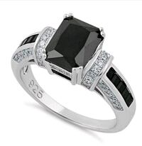 Beautiful solid 925 sterling silver black sapphire Omaha, 68104