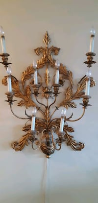 Antique Lighted Candelabra Wall Sconce