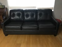 Black Leather Sofa Bed and Seat Redwood City, 94061