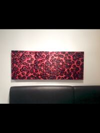 black and red abstract painting Los Angeles, 90036