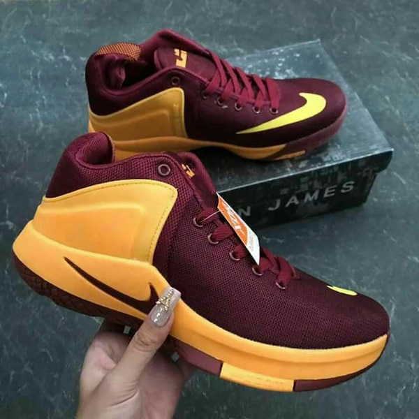 2ca751f778155 Used maroon-at-dilaw Nike Lebron James shoes for sale in Antipolo - letgo
