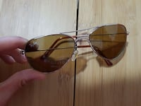 occhiali da sole aviator incorniciati color argento marrone