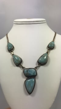 silver and blue gemstone pendant necklace Greeneville, 37745