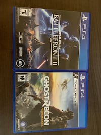 Two ps4 games, both games together for $40 London, N6K 0C6