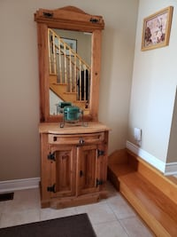 Sante fe Solid Pine Entertainment Unit and Matching Stand Bolton, L7E 1X4