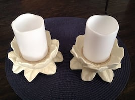 Magnolia Candle Holders.  Pick up in Woodstock only