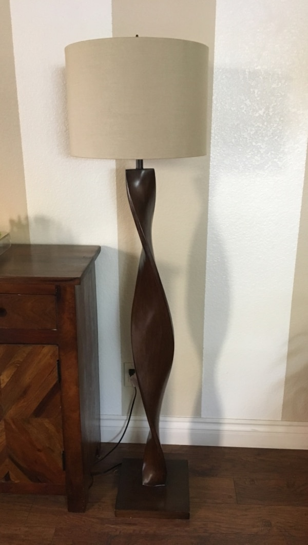 Used Floor Lamp Pier One Twisted Wood For Sale In Murrieta Letgo
