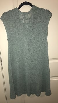 Gray sweater dress-