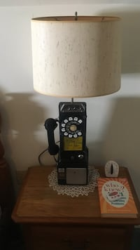 Rotary Dial Telephone booth Electric phone made into lamp