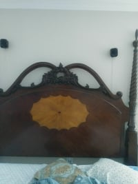brown wooden headboard