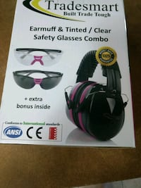 NIB pink safety glasses and earmuff  combo Olympia, 98501