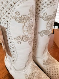 White Wedding Cowboy Western Boots Size 7 Pearland, 77581