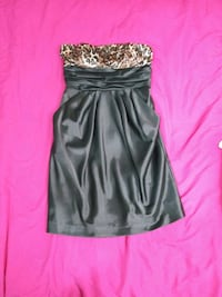 Lets Fashion Short Strapless Dress with pockets