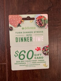 $60 Giftcard at Hello Fresh Calgary, T3G 4W2