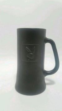 Vintage Playboy Frosted Grey Glass Beer Stein Mug Los Angeles, 90028