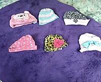 Six baby girl hats Kingsport, 37660