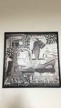 White and black wall decor Dior Vaughan, L4H 3X1