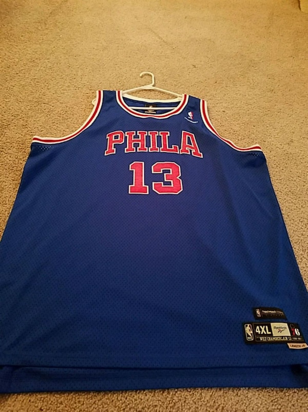 bb3eef36a Used Philadelphia 76ers Wilt Chamberlain throwback for sale in ...