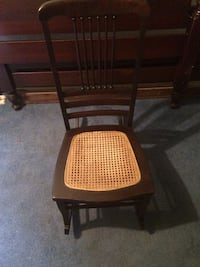 brown wooden framed padded chair Shrewsbury, 01545