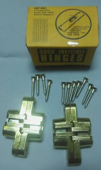 New in Boxes SOSS Invisible Hinges 208US4 / 208 Satin Brass - 7 Boxes