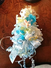 white and blue ribbon wreath Corpus Christi, 78412
