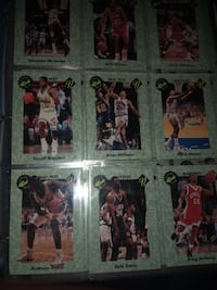 nine assorted football player trading cards California City