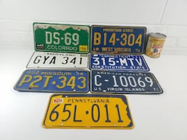 USA License plates & 1 - 1992 NWT