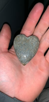 Hand cut heart stone from California Plainville, 02762