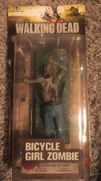 the Walking Dead bicycle girl zombie crawling action series 2 NIB