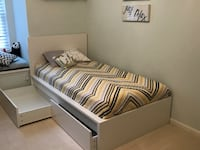 Ikea twin bed with two drawers Howell, 48855