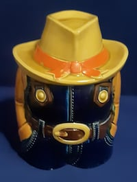 Vintage Headless Texan Cowboy Cookie Jar Container- Made in Japan